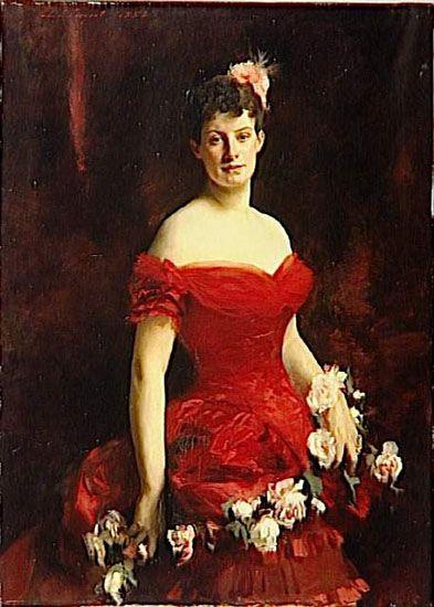 1883 Viscountess of Poilloue of Saint-Perier by John Singer Sargent (Musée d'Orsay, Paris):