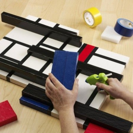 Como hacer cuadros decorativos con cintas como hacer - Como hacer cuadros abstractos modernos ...