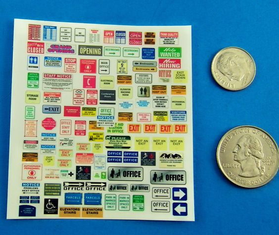 HO SCALE LAYOUT SIGN TRUCK REFER MODEL DECALS HO711
