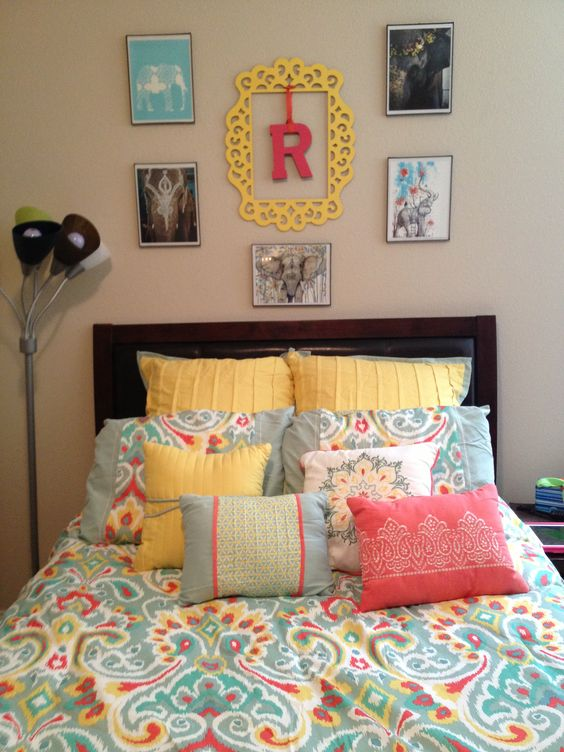 bedding from kohls initial and frame from michaels frames from