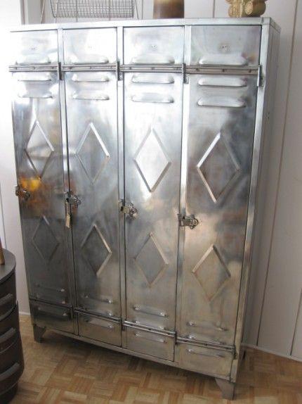 Vintage Steel Locker Very Cool For Organizing A Mud Room