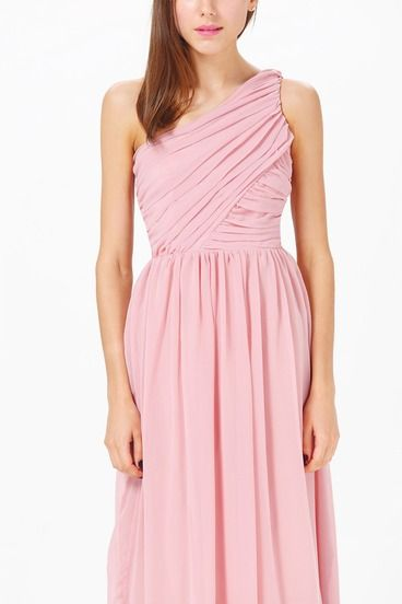 buy a ladylike pink maxi dress for my birthday party
