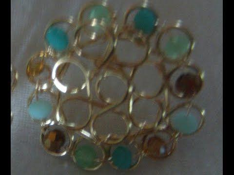 earrings,ARETES (tutorial nivel medio) - YouTube