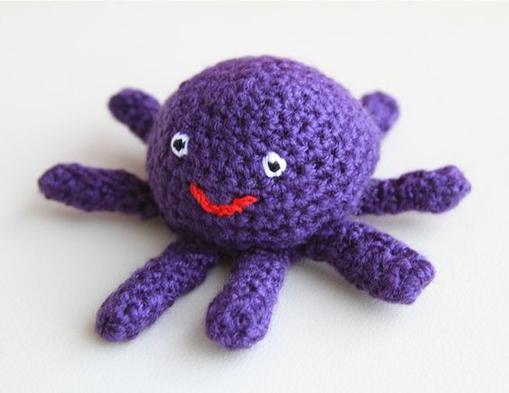 Marcy, the purple octopus