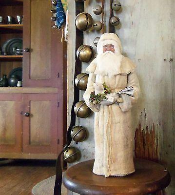 German Style Primitive Cotton Batting Santa Claus with Dove