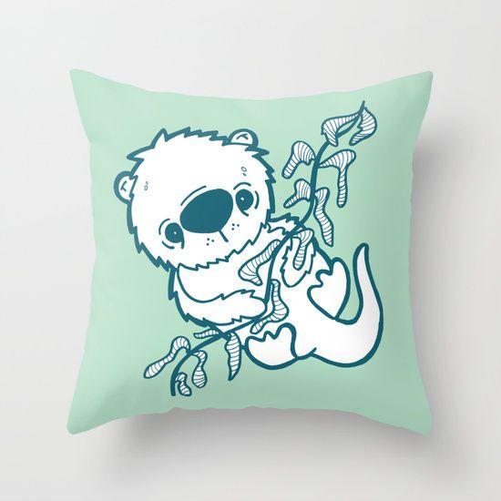 Cute Green Utter Stunning Decorative Pillow Case Art Print Throw Pillow Sham #Handmade #Novelty