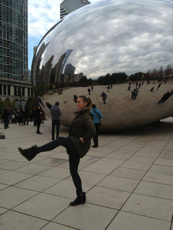 Leg lifts in Chi-town! Check out this The Bar Method Atlanta client at Chicago's bean!! #WhereDoYouBar? #barmethod #exercise #fitness #travel #Chicago