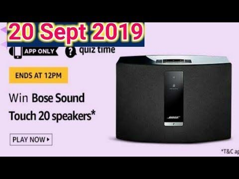 Amazon Quiz Answers Today Win Bose Sound Touch 20 Speakers 20 Septem Speaker Bose Bose Speakers