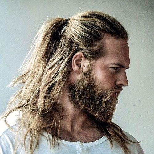 40 Best Blonde Hairstyles For Men 2020 Guide Man Ponytail Long Hair Styles Men Hair And Beard Styles