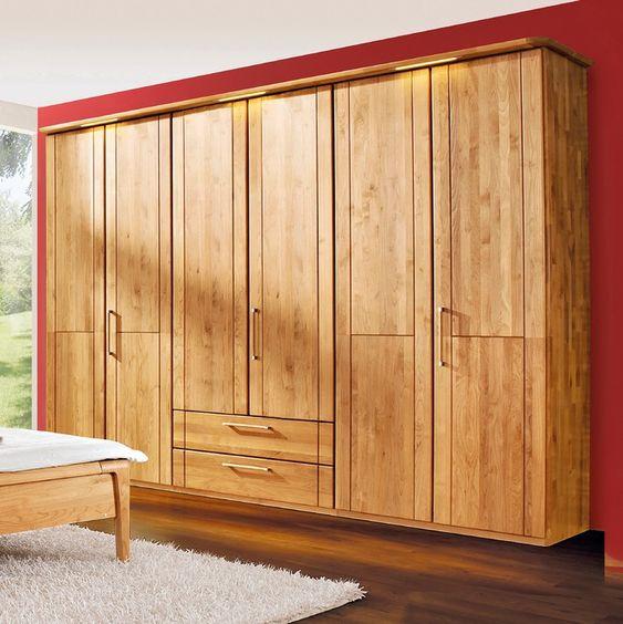 Loddenkemper Kleiderschrank Cortina Plus 302x226 Cm Erle Holz In