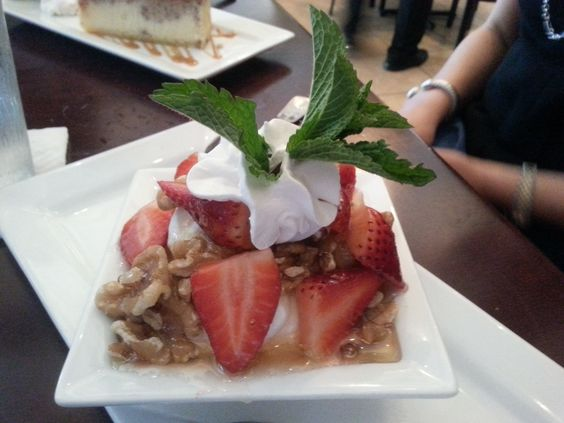 Light and delicious dessert from the Greek Joint in Hollywood, Florida via Amplification, Inc. social media marketing and video production agency. http://amplificationinc.com/