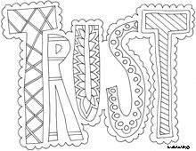 13 pics of inspirational word coloring pages printable for Trust god coloring page