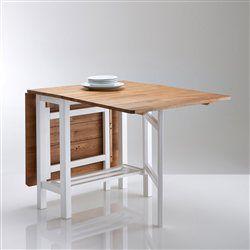 Table de cuisine à rabats, chêne massif ADELITA. La Redoute Interieurs - Table d'appoint
