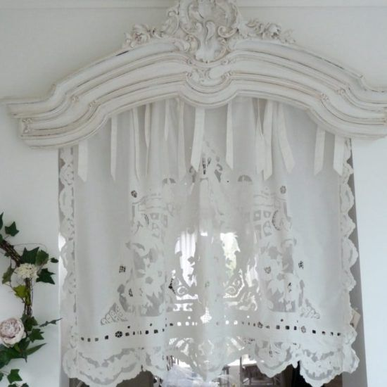 rideaux shabby chic