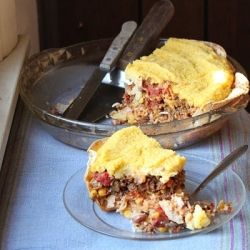 It's like a burrito and a tamale but in pie form. Fabulous dinner idea!