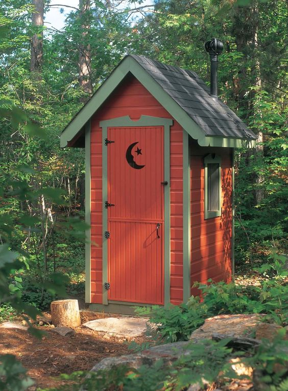 Free country outhouse plans privy pinterest gardens for Country barn plans