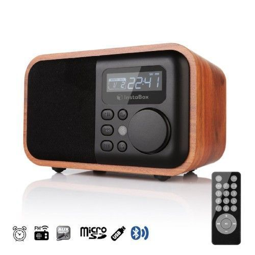 Vintage Multifunctional Speaker Digital Bluetooth Fm Radio Alarm