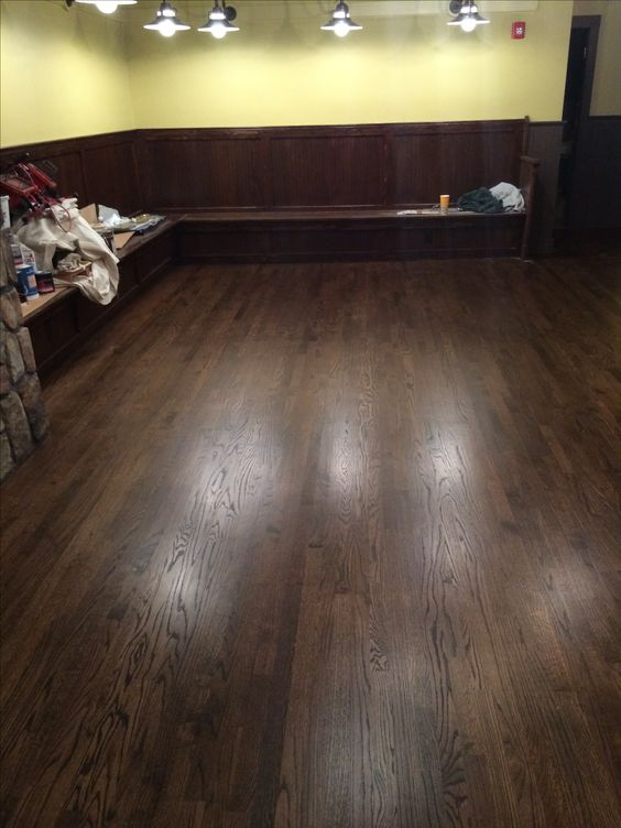 2 1 4 Quot Red Oak Hardwood Flooring Stained With Minwax Dark