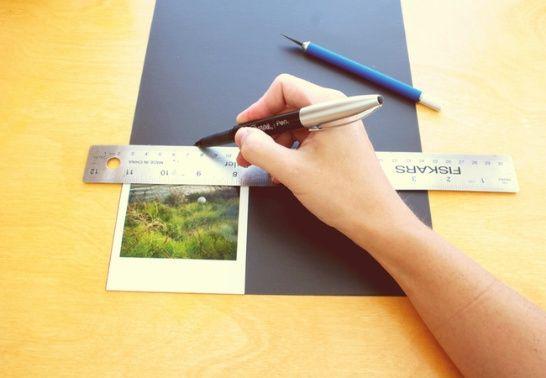 créer des cadres magnétiques style polaroid