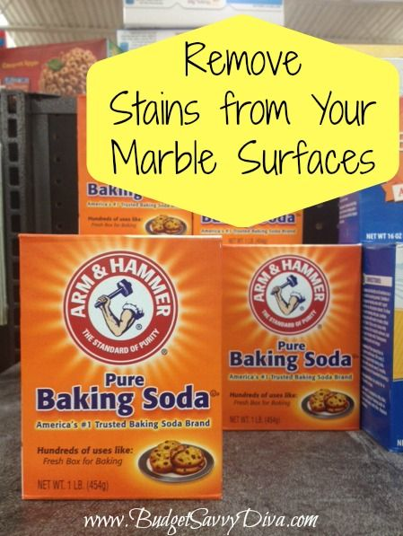 how to clean marble with baking soda