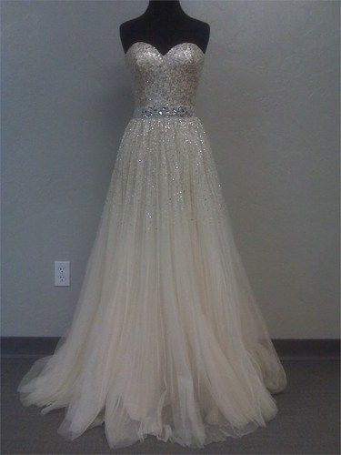 Gorgeous A-line Sweetheart Tulle Prom Dresses with Sequins from Sweetheart Girl