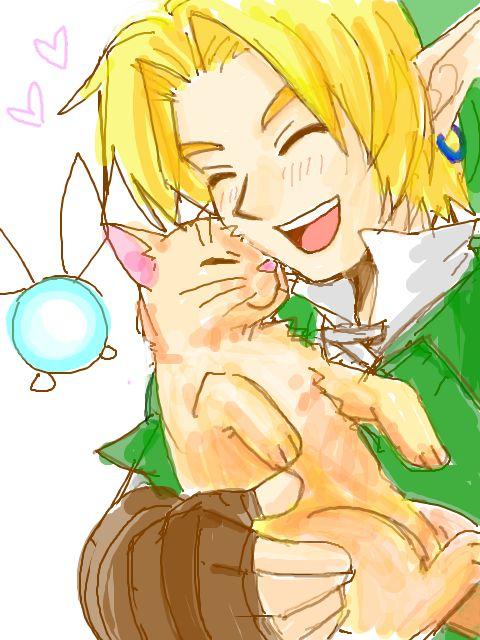 Navi, Link & CAT  #Zelda #oekaki