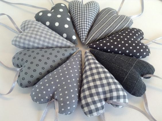3 tannenb ume in natur shabby chic polka dots and dots for Shabby wanddeko