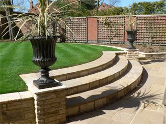 Inspiring split level landscaping myhomeimprovement for Split level garden designs