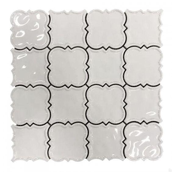 Buy Magnolia 12x12 Ceramic Deco Mosaic Ceramic Tile In 2020 Mosaic Wall Tiles Wall Tiles Mosaic Wall