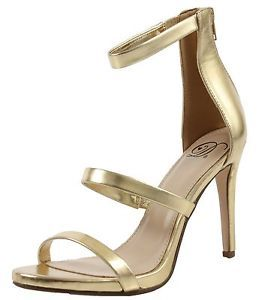 Delicious Women's Open Toe Triple Strappy Stiletto High Heel  | eBay
