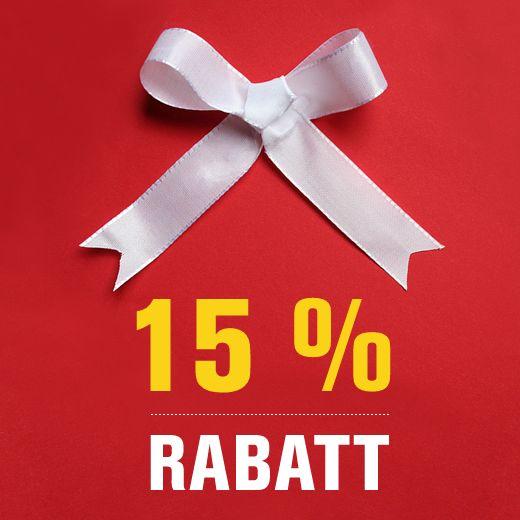 Mit diesem 15 % RABATT-GUTSCHEIN lohnt sich das #SHOPPEN in unserem Online Shop. Denn der #Rabatt ist auch für ALLE bereits REDUZIERTEN Produkte gültig. Sie können den #Gutschein bis zum 01.09.2016 bei uns einlösen (ab 15,00 € Bestellwert). +++ Ihr GUTSCHEIN-CODE: huk15ragu