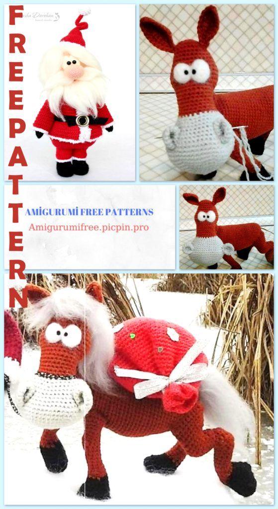19 Free Amigurumi Christmas Santa Crochet Patterns | Crochet ... | 1024x559