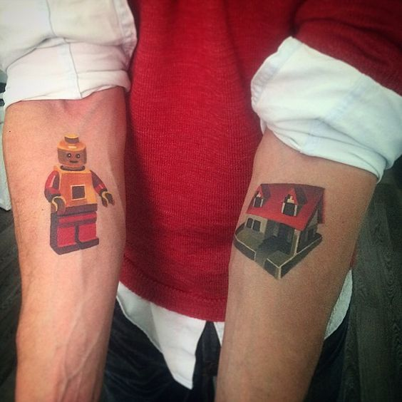"""Tattoos I did more then 1 year ago #LEGO #legotattoo #sashaunisex #healed #vbiproteam """