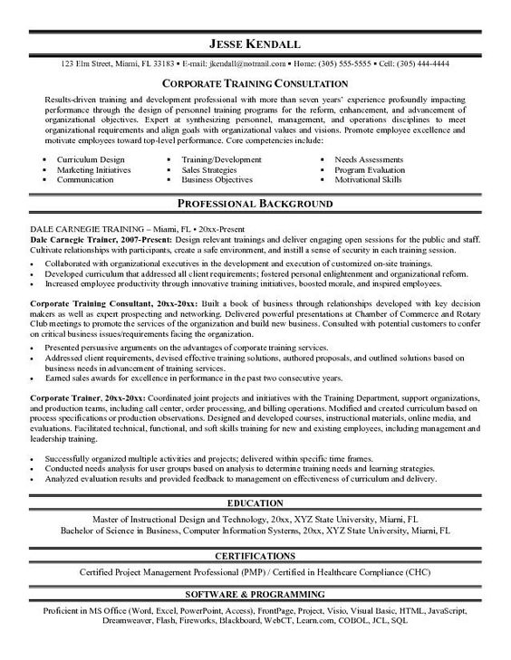 Pin by Optimal Healthcare Solutions on Home Healthcare Training - corporate trainer resume sample