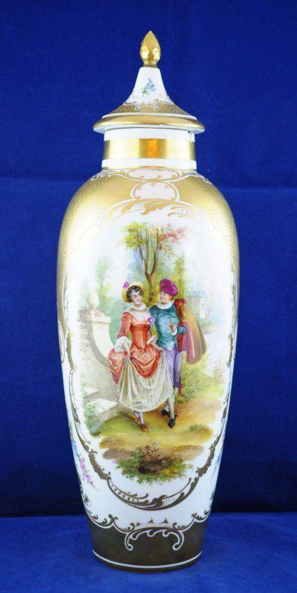 Meissen Porcelain Vase w/ Courting Scene