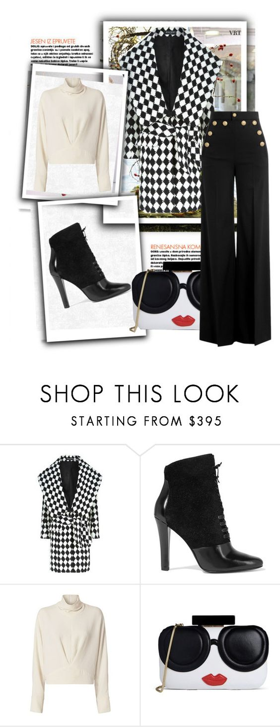 """Diamond Chic"" by velvetmahya ❤ liked on Polyvore featuring Balmain, 3.1 Phillip Lim, IRO, Alice + Olivia and RED Valentino"