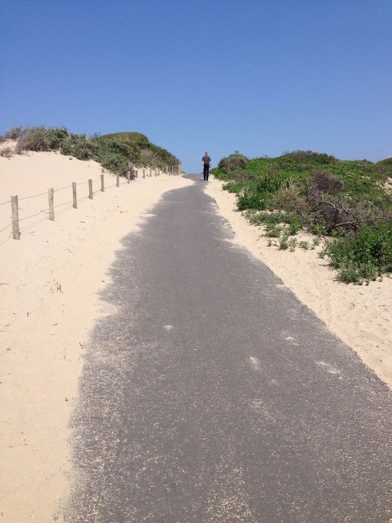 Walking to the beach Duindorp the Hague