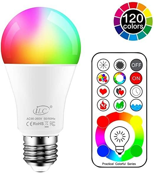 Color Changing A19 5w Led Light Bulbs 16 Color Choice Remote Controller Included Color Changing Light Bulb Led Light Bulb Color Changing Lights