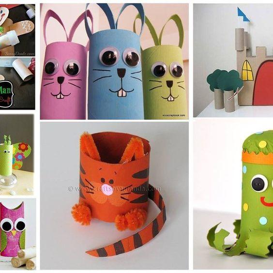 Zabawki z papierowych rolek: