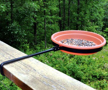 Railing Bird Bath Feeder | Bird feeders and Balcony ideas