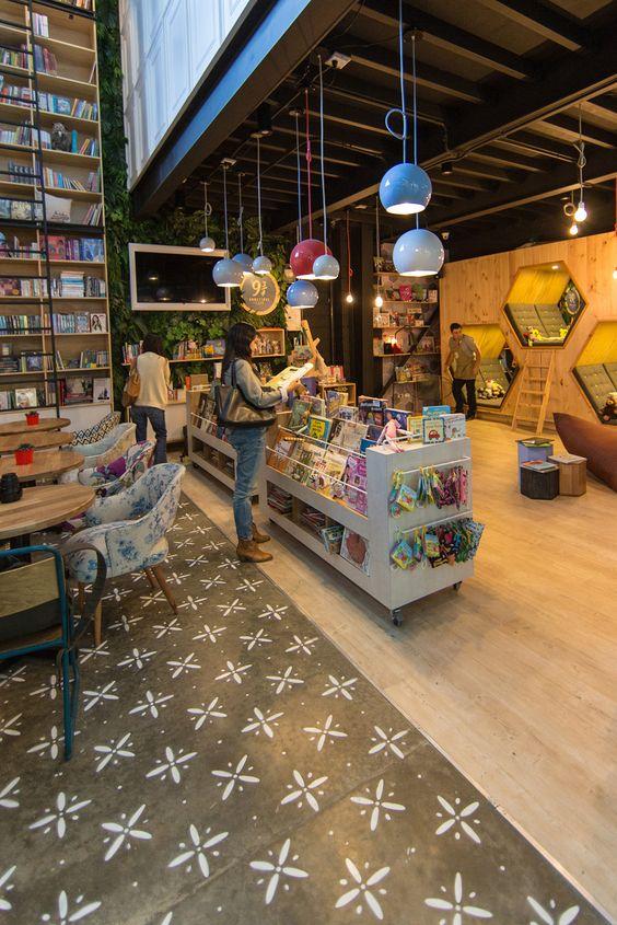 Plasma Nodo - 9 3/4 BOOKSTORE + CAFÉ / Diseño Interior