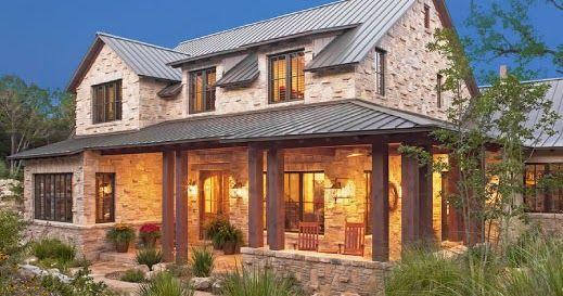 Blog Com Dicas De Decoracao Para Deixar Sua Casa Mais Bonita E Confortavel Hill Country Homes Texas Style Homes Modern Farmhouse Exterior