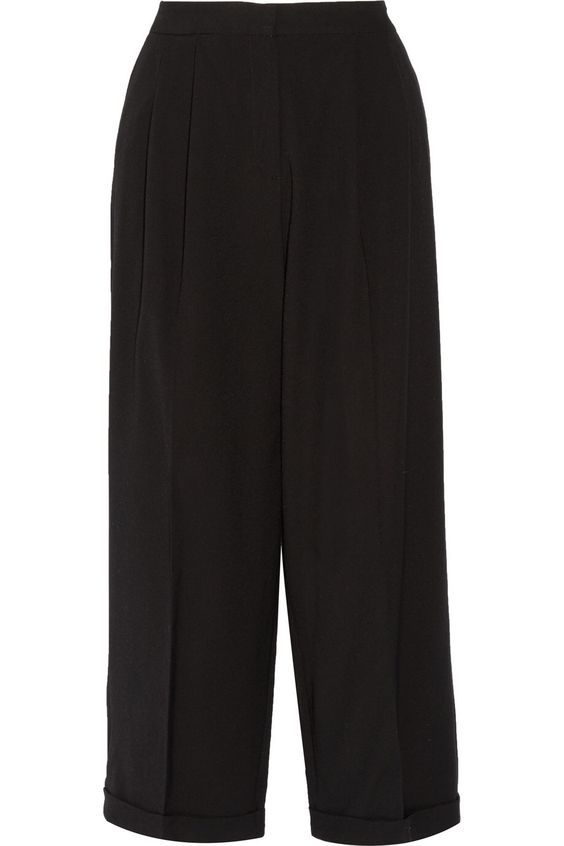 MILLY Dobby cropped cady wide-leg pants $155.25 http://www.theoutnet.com/products/713429