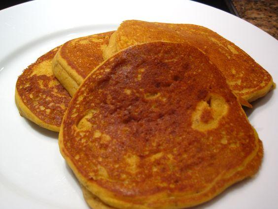 #GF Pumpkin Pancakes with soymilk #recipe via @MisterBelly: