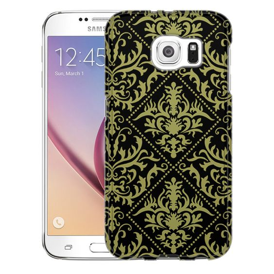 Samsung Galaxy S6 Damasks Stunning Yellow on Black Slim Case