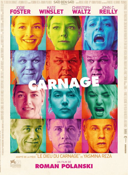 Carnage by Roman Polanski was…absolutely brilliant.