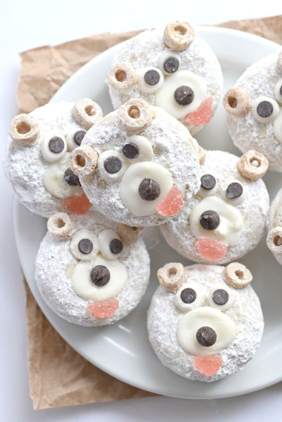 Go from boring ol' mini donuts to adorably fun, gluten free vegan Polar Bear mini donuts in no time!
