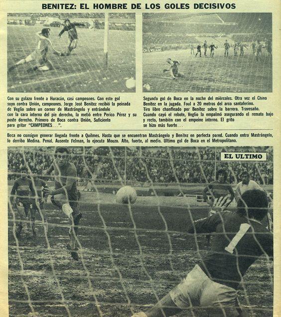 Boca Juniors 1976 - Ultimos 3 goles del Metro