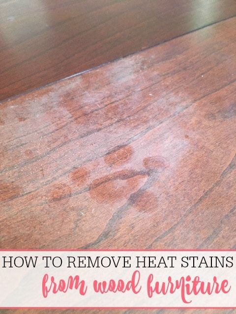 How To Remove Heat Stains From Wood Water Stain On Wood Stains