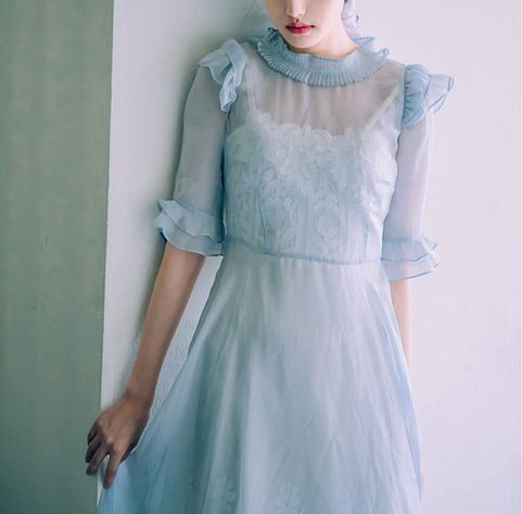 L'amant Collection fairy tale light blue organza by PurpleFishBowl